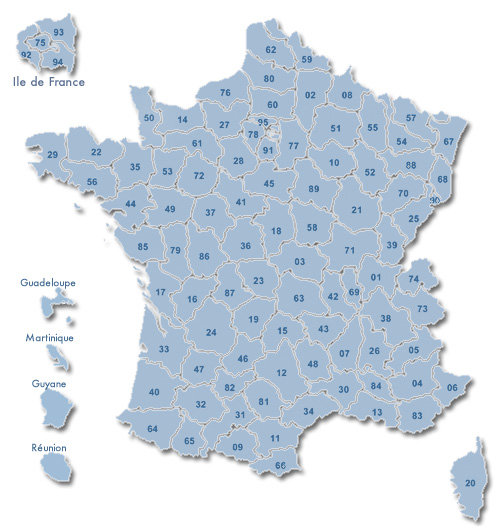 Carte des departements